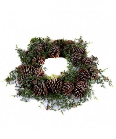 Coroncine natalizie con pigne - set da 2