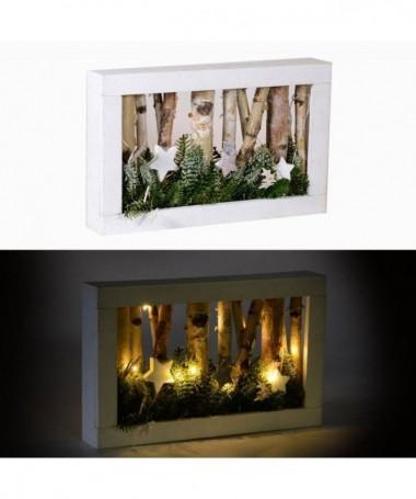 Decorazione a forma di quadro con luci Lanterna con 10 led
