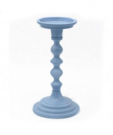 Candelabro in metallo piccolo - azzurro