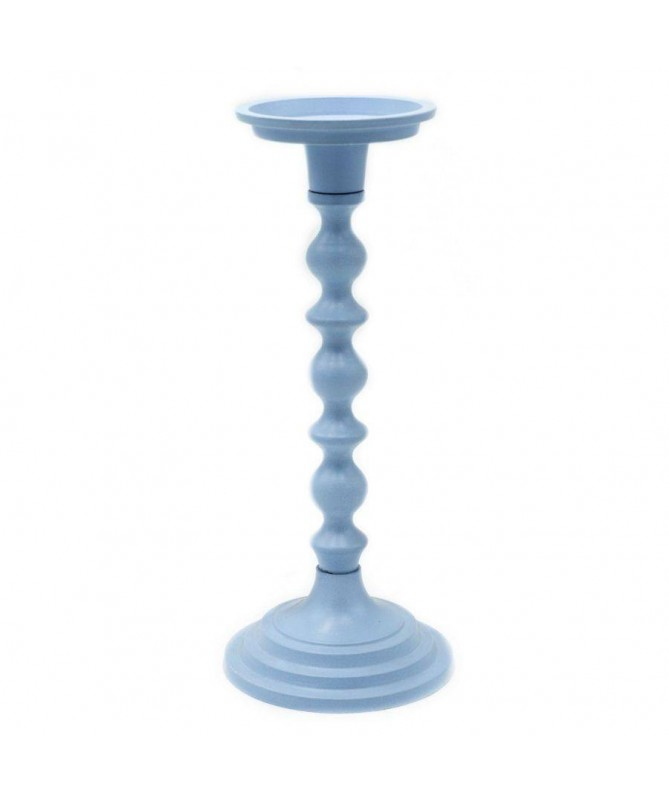 Candelabro in metallo - azzurro