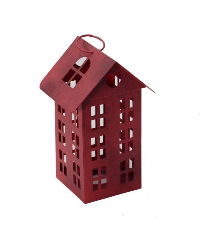 Lanterna a casetta alta – set da 2 rosso
