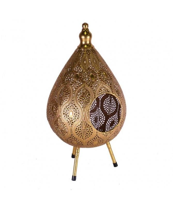 Lanterna a goccia in metallo dorato