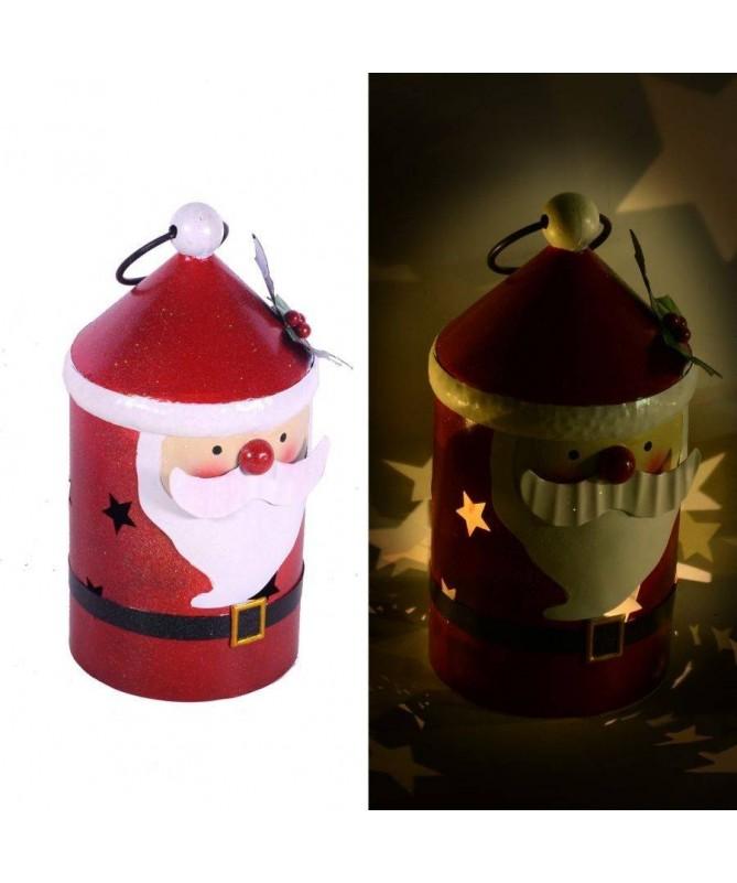 Lanterna babbo Natale con led – piccolo