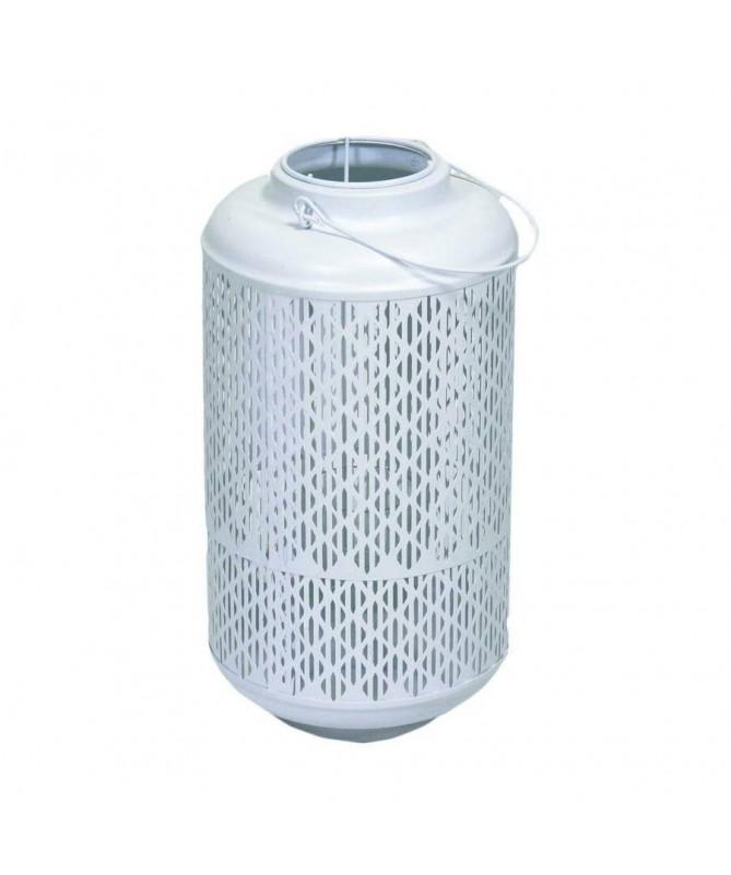 Lanterna traforata in metallo – bianco
