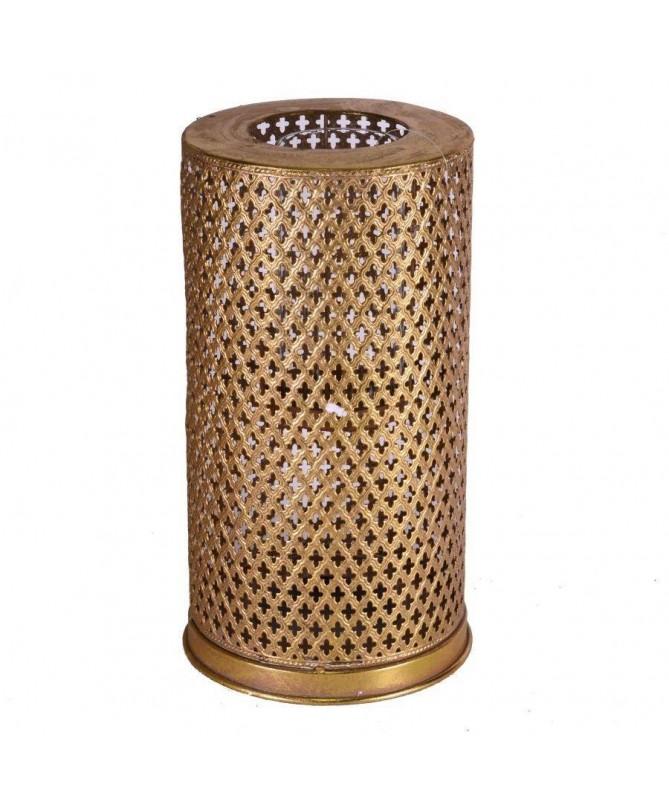 Portacandele in metallo dorato