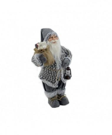 Pupazzo babbo Natale con lanterna – grigio