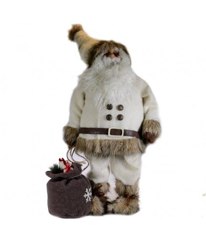 Pupazzo babbo Natale con sacco – bianco