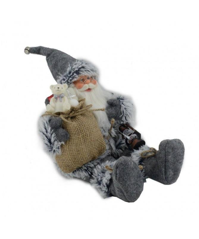 Pupazzo babbo Natale seduto – grigio