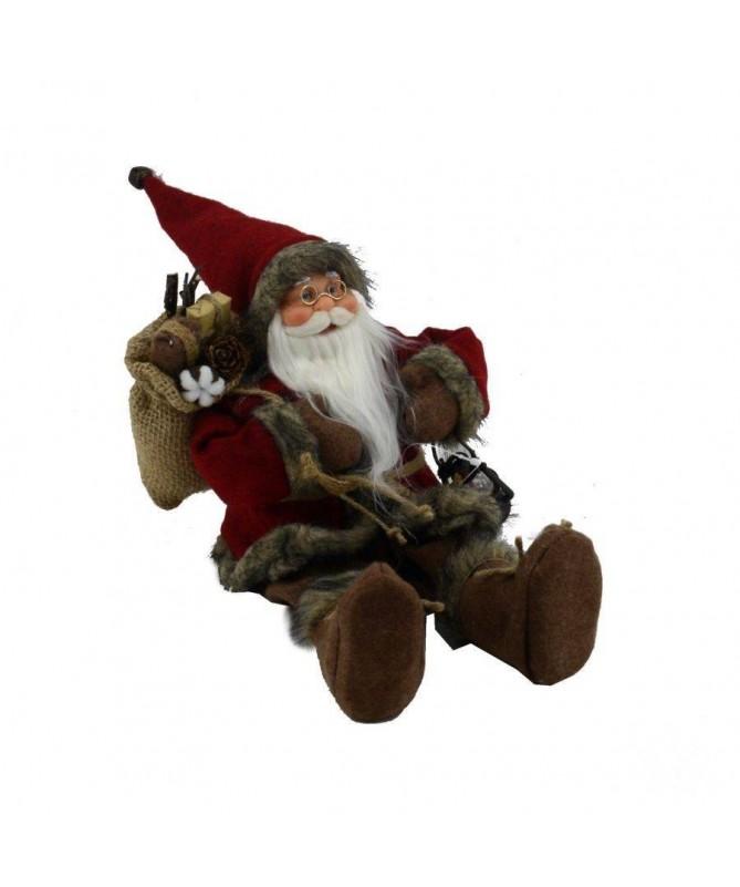 Pupazzo babbo Natale seduto – rosso