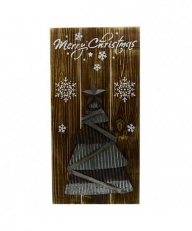 Targhetta in legno e metallo Merry Christmas