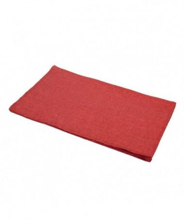 Tovaglietta in tessuto rosso – set da 12