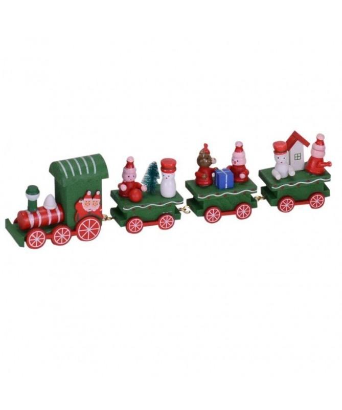 Trenino in legno - verde
