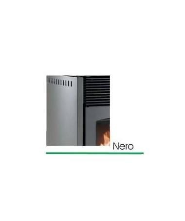 STUFA A PELLET mod. SCINTILLA 10 KW con rivestimento in ACCIAIO di colore NERO - MADE IN ITALY