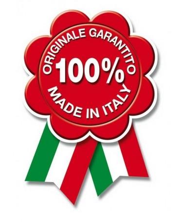 TERMOIDRO STUFA A PELLET da 16 KW con rivestimento in ACCIAIO e MAIOLICA di colore ROSSO - MADE IN ITALY