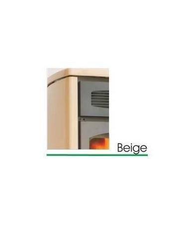 TERMOIDRO STUFA A PELLET da 16 KW con rivestimento in ACCIAIO e MAIOLICA di colore BEIGE - MADE IN ITALY