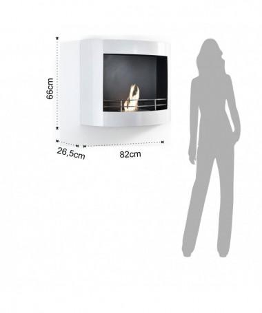 Caminetto a bioetanolo Royal in acciaio e vetro