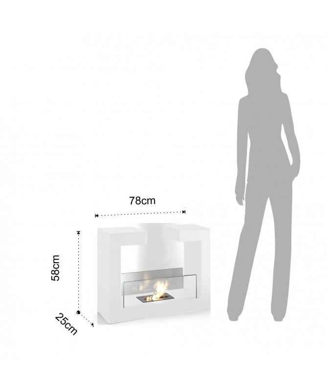 Caminetto a bioetanolo Hug - bianco