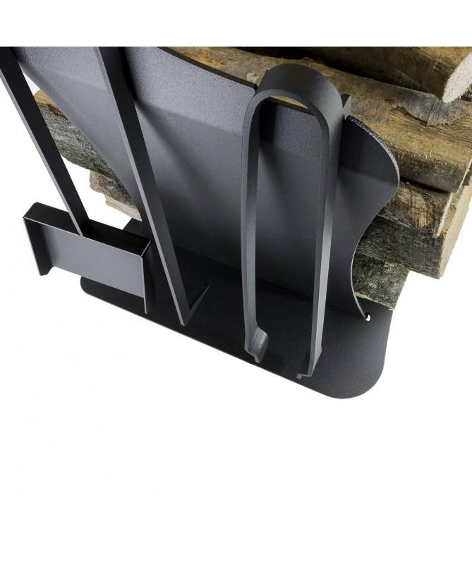 Portalegna Duna in acciaio - Made in Italy