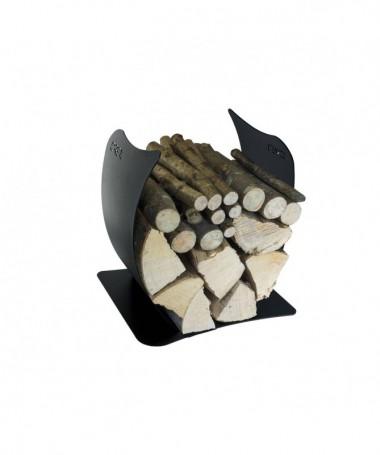 Portalegna Onda in acciaio - Made in Italy