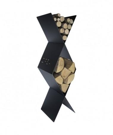 Portalegna Rombo alto in acciaio - Made in Italy