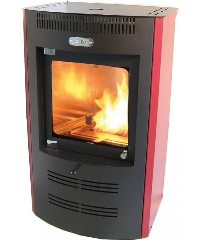 Stufa a bioetanolo ventilata TX 325 - rosso