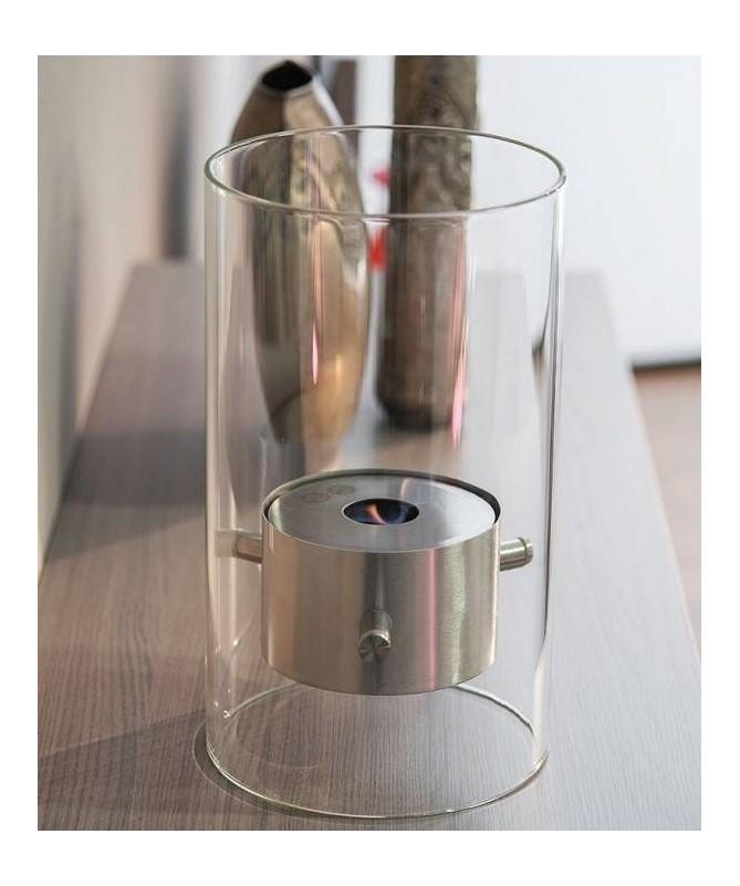 Biocamino da tavolo Murano - acciaio