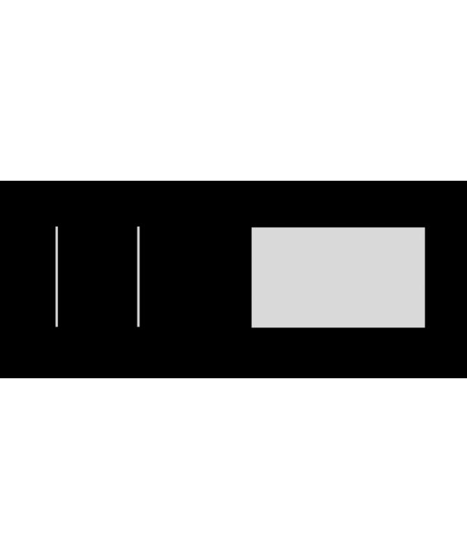 Biocamino da tavolo Modena - nero