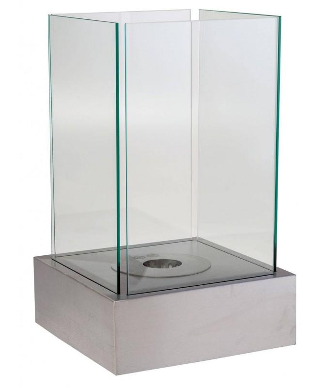 Biocamino da tavolo Merano - acciaio