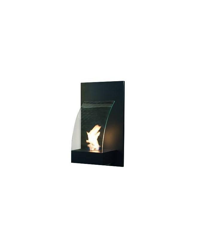 Biocamino da parete Soave - nero