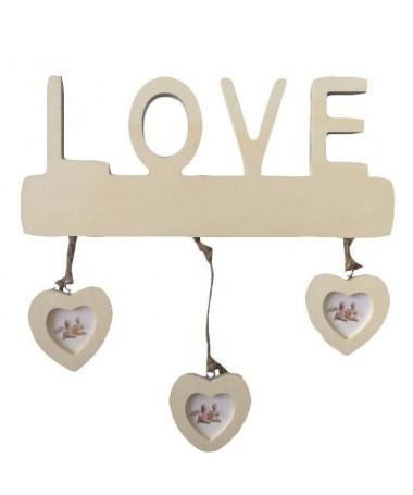 Portafoto a muro Love con cuori - 48 pezzi