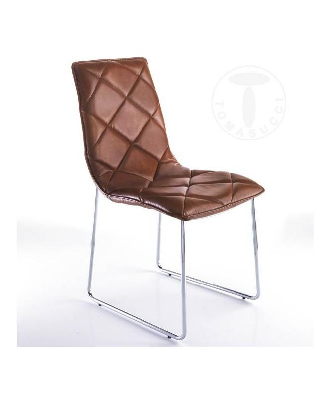Sedia in pelle sintetica Soft - set da 4 marrone