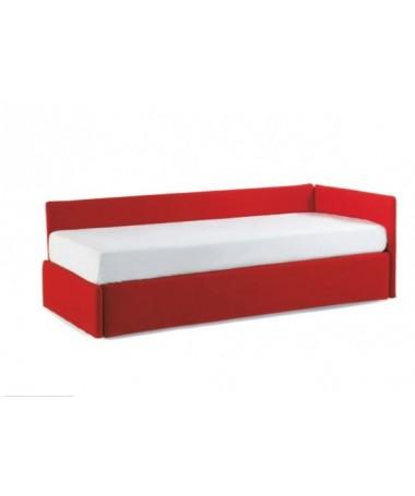 Letto 1 piazza con angolo basso Duplo di Bontempi Made in Italy - tessuto o pelle ecologica