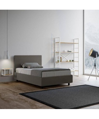 Letto 1 piazza e mezza Adele in similpelle made in Italy