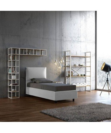 Letto singolo Ambra in similpelle Made in Italy