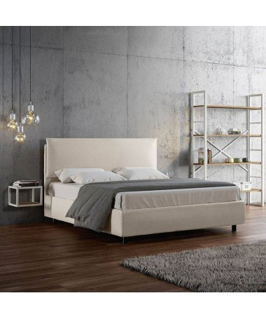 Letto matrimoniale Ambra in similpelle Made in Italy