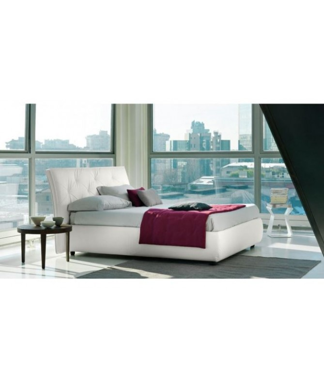 LETTO 1 PIAZZA JANET FISSO h30 MADE IN ITALY BONTEMPI pelle ecologica