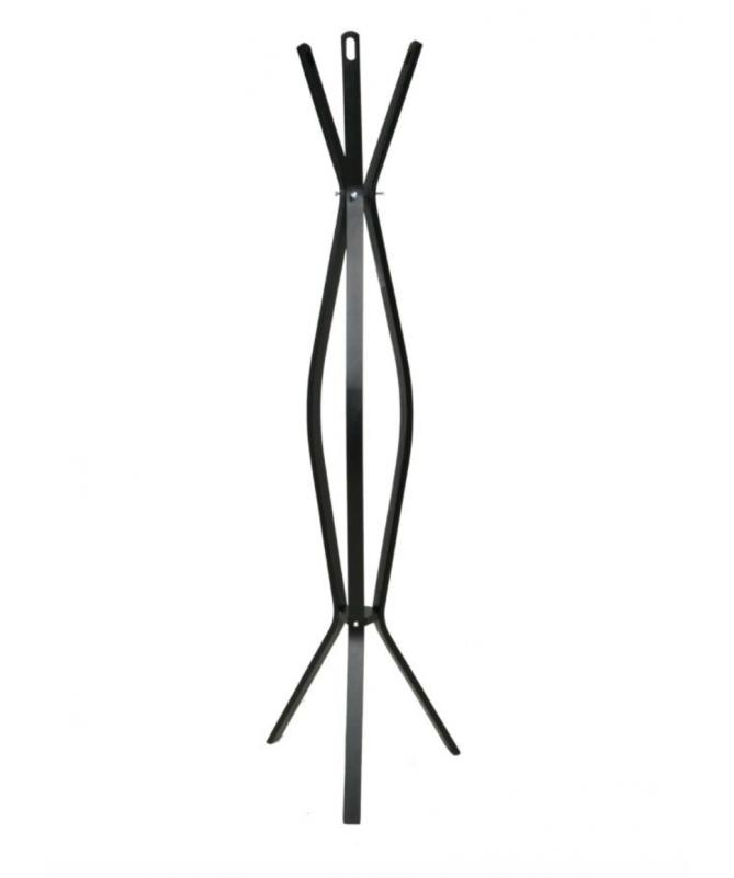 Attaccapanni a stelo in legno con 3 braccia - nero