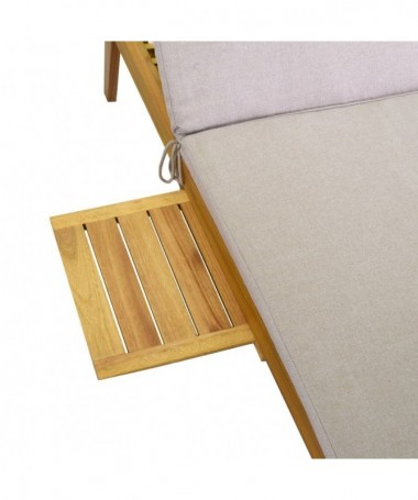 Lettino in legno con cuscino modello Nanchino