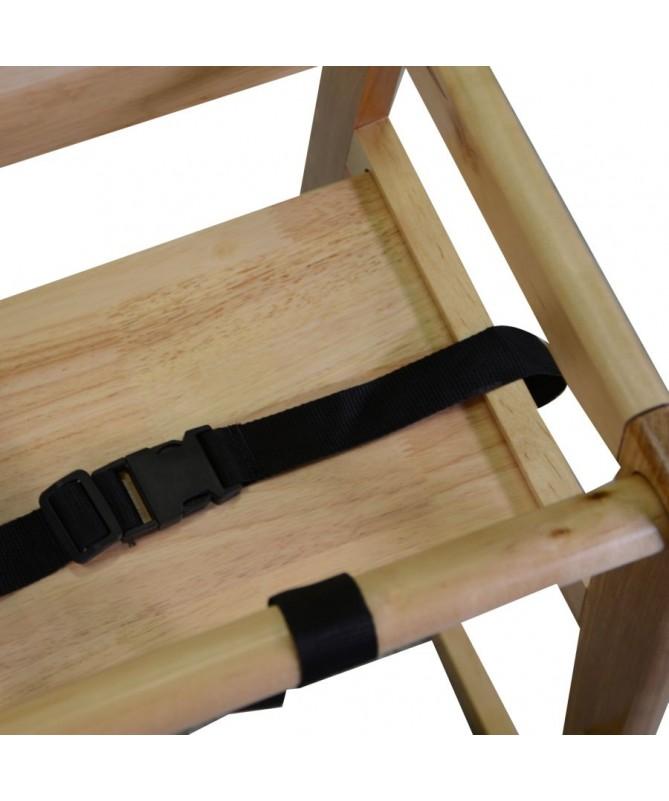 Seggiolone in legno naturale