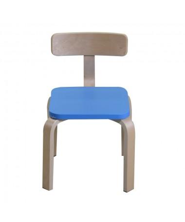 Sedia per bambini in legno blu
