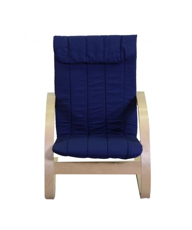 Poltrona per bimbi legno blu