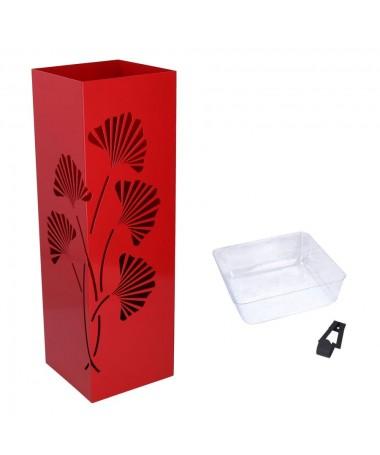 Portaombrelli metallo rosso fiori