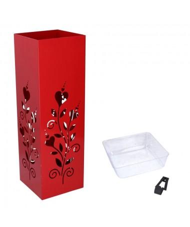 Portaombrelli metallo rosso fiore