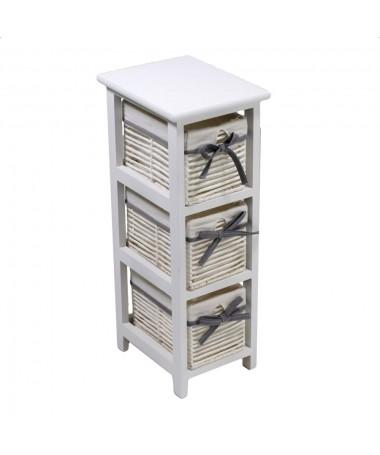 Mobiletto HILARY cassettiera bianco 3 cassetti