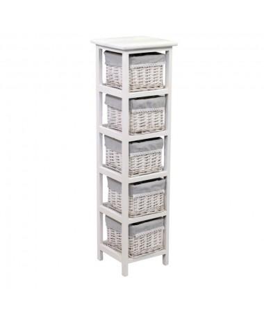 Mobiletto GRETA cassettiera bianco 5 cassetti