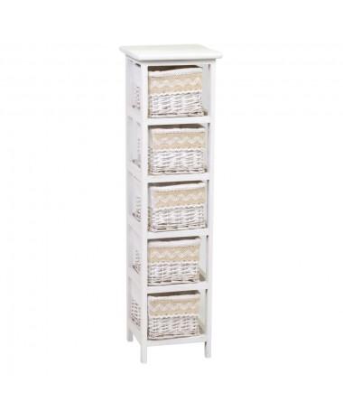 Mobiletto ORIETTA cassettiera bianco 5 cassetti