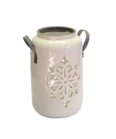 Lanterna mare ceramica bianco