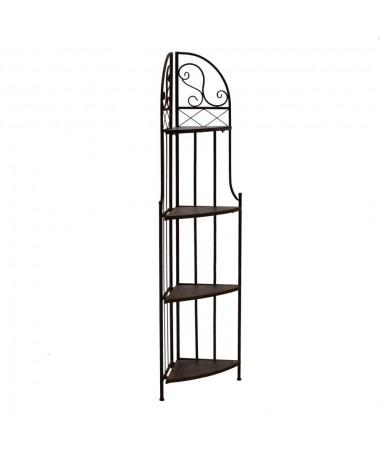 Scaffale metallo legno RUSTY 4 piani