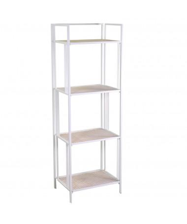 Scaffale metallo 4 piani bianco