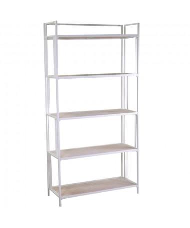 Scaffale metallo 5 piani bianco